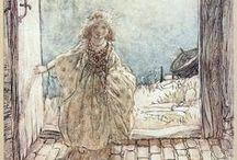 "Arthur Rackham Magic! / ""Like the sundial, my paint box counts no hours but sunny ones."" ~Arthur Rackham"