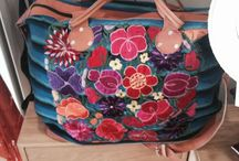 Mexican embroidered crafts for sale.    esthercl66@hotmail.com / Blouses, purses, pillows, glasses holders, makeup bags, for sale!