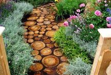 Fantasy Garden / This garden is beyond the herb garden thru the trellis and over stepping stones.  I want to create a peaceful setting, it will have flowing water of some sort, perhaps camomile grass.  A seat to sit and read.    The only existing plant is a lemon tree