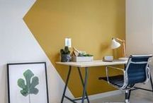 Accent Walls / Accent walls are a great way to brighten up a boring room. Check out some of the most inspiring walls here on Pinterest. Repin them to your own boards!