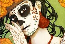 Day of the Dead & Día de los Muertos / Images related to the Day of the Dead // Imágenes relacionadas con el Día de Muertos / by Montse Reyor Black