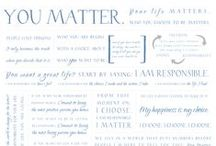 Life is _____ / You Matter. Your Life Matters. Our World Needs Y(our) Best. #lifeclass #youmatter #inspiration