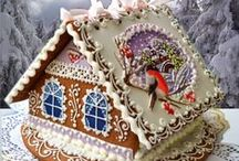 Mom's gingerbread houses