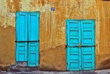 Colorful & Interesting Exteriors / I love how these places are interesting and colorful, more interesting than a cookie cutter house in a manmade subdivision with a HOA! / by Marcea S