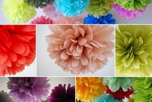 Hanging deco: bunting, poms, lace for parties