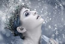 Inspiration: The Snow Queen's Realm / The Winter Queen. Magical Land of Snow, Ice and Frost.