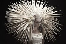 Headdress: COUTURE / The headdress on the Couture Fashion Runway. Designer.