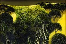 Artist Hero: Eyvind Earle / Eyvind Earle (April 26, 1916 – July 20, 2000) was an American artist, author and illustrator, noted for his contribution to the background illustration and styling of Disney animated films in the 1950s.