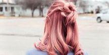 Peachy hair / Entre el coral i el rosa, el peach hair és el color de la temporada. Un color molt femení ideal per melenes roses o castanyes clares.