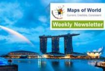 Maps of World Weekly Newsletters / Checkout here the weekly #newsletters of MapsofWorld.com that give insight into trending news and #maps, map games and products, #quizzes, #offers, details about Mapping #Events from around the #world, and a lot more!