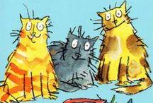 Cat Art .... / Mi peculiar punto de vista de lo que considero artistico / by Carmen Sanz
