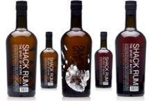Rum bottles | RHUM | pom | Ramu sake | grog / packaging for rum an alcoholic liquor distilled from sugar-cane residues or molasses. 朗姆酒,  Lǎng mǔ jiǔ,  ラム酒  / by Packaging Diva