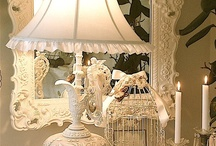 Shabby Chic Loves / Soft fabrics, floating curtains, ruffled pillows, romantic furniture, oh so beautiful accessories, a Kaleidoscope of white - 'pure heaven on a stick'!