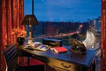 The Suite Life / Four Seasons Hotel London at Park Lane has set a new benchmark in redefined luxury with its dramatic blend of tradition and modernity in its chic interiors. The 193 guestrooms and suites are furnished in contemporary residential style, while still retaining the intimate feel of a private residence. Welcoming fireplaces feature in most suites, many have terraces or balconies, and all have views ranging from Hyde Park tree tops to charming cityscape. / by Four Seasons Hotel London at Park Lane