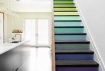 Staircase Inspiration / The house that we don't own will have a staircase that looks something like this...