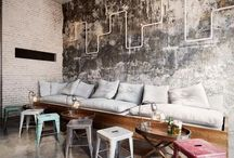 Office / Industrial and eclectic office design, finishings and furniture