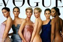 90s Supermodels / The original supermodels: Naomi Campbell, Claudia Schiffer, Christy Turlington, Helena Christensen, Linda Evangelista, Kate Moss, Cindy Crawford...