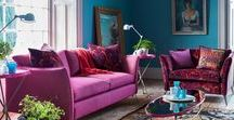 Colourful Sofas, Bright Couches / Add a pop of colour to a room with a bright and bold couch. So much colourful sofa inspiration. My kingdom for a velvet couch!