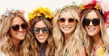 Floral Crown Inspiration / I love a floral crown. Whether you're a boho wedding babe, want an eye-catching festival look, or just fancy a way to to spruce up your summer outfit...