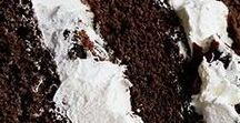 Chocolate Desserts / We all need to indulge in something dark and decadent once in awhile.  Chocolate to the rescue!