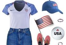 Red White and Blue - Star Spangled Style / Show your Patriotic style, in Red White and Blue.  Outfit ideas for Memorial Day, 4th of July, Flag Day and cheering on Team USA!