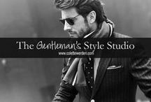 The Gentleman's Style Studio / For the man that stands tall and proud with humble certainty. And exudes the presence of a gentleman. www.colettewerden.com