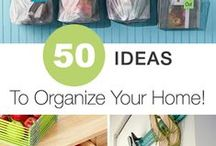 Organize It! / Tips and tricks to declutter your home,  organize your life / by Very Definitely