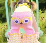 CROCHET CLOTHING / Alien Monster Pants, Owl and Monkey Pants, Ponchos, Dresses, Skirts, and other Garment PDF Crochet Patterns by IraRott Inc.