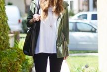 My Style - Roadtrip / Need to pack: jeans, leggings, white blazer, olive leather jacket, Creme cardigan, fancy scarf, black pencil skirt, a few Tees & tops, comfy flats, heels