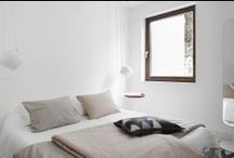 for the bed / inspiring bedroom , white bedroom, sleeping in a modern space, simplicity, inspiring styling