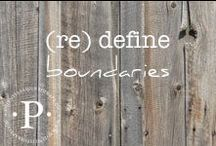(re) define boundaries / Boundaries equate safety and are not barriers. Boundaries that are sustainably maintained lead to safe relationships, peace and clarity. Those who respect and support you are drawn to your healthy boundaries while the unsafe people will have less power over your peace.