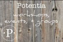 potentia workshops, events + groups / For those in SoCal or those who want to travel to San Diego for our intensive workshops, we look forward to hosting you at Potentia's beautiful space as you seek to (re) define health and live with more peace and joy.