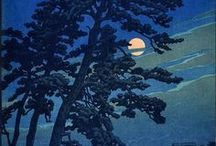 """The world of Hasui Kawase / 川瀬 巴水の作品  a prominent Japanese painter of the late 19th and early 20th centuries, and one of the chief printmakers in the shin-hanga (""""new prints"""") movement. Kawase left a large body of woodblock prints and watercolors.  In the West, Kawase is mainly known as a Japanese woodblock printmaker. He and Hiroshi Yoshida are widely regarded as two of the greatest artists of the shin-hanga style, and are known especially for their landscape prints.  1883-1957"""