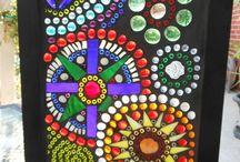 Glass on glass mosaics