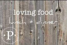 on loving and appreciating food: lunch and dinner / Food that needs to be cooked, baked, stirred, tasted and enjoyed. Meeting your body's needs and enjoying foods of all flavors, types and textures is possible. Food is fun, Food is Medicine. Food is not the enemy.