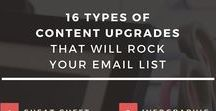 Content Upgrade Ideas + Inspiration / Use these ideas and inspiration to jumpstart your next content upgrade offering!
