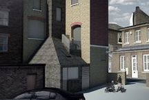 The Woodman / Scheme to add a small mansard-style extension to the elaborate roof of a late Victorian/early Edwardian public house in Lewisham. The upper floors are to be converted to 3 residential units whilst a fourth is created by the extension. Cladding it in dark slate to keep with the traditional roofing material, we allow the slate to 'melt' down the stair core to 'pool' above the new entry space, creating a dramatic and uplifting entrance