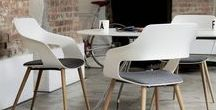 Occo Chair / Appealing variety in one design language Occo, design: jehs+laub  For Wilkhahn, designers Markus Jehs and Jürgen Laub have come up with a chair and table range which is perfectly coordinated with one another. It's called Occo.