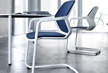 Metrik chair / Wilkhahn: Metrik, design: WhiteID -   Metrik translates the versatile cantilever chair into a new design. The monolithic seat body is defined by clear shapes and precise light lines with organic and comfortable areas for the user to come into contact with. Due to the form-fit connection to the tubular steel shell, Metrik looks seamless.