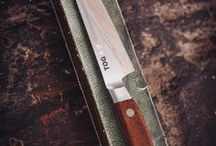 TOG Japanese Kitchen Knives / Pictures of TOG Knives in use by home & pro chefs, for food preparation.
