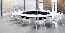 mAx meeting table / Folding table systems are exceptionally flexible ways of furnishing multipurpose spaces. Handling and storage requirements, the range's variety and quality of its design have an impact on facility management costs on the one hand and the appreciation conveyed to users on the other. This is where mAx's appealing look and sophisticated construction set new standards.