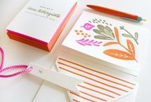 Correspondence / Invitations, letterhead, stationery and event materials. / by Trish Fairbanks