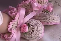 Crochet - Baby Booties / Bibs / by Nivethetha Sudhakar