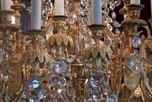 Chandeliers and crystal... beautiful / I have filled my own house with beautiful crystal chandeliers - I've even put one in the bathroom!