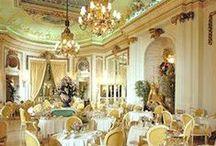 Beautiful tea rooms / Charming tea rooms, elegant tea rooms, vintage tea rooms and all the necessary tea paraphernalia..... Time for tea anyone?