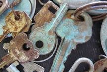 Find the key to my heart.....and.. / Old keys given a new life - love it.....