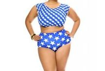 Plus Size SwimSuits / Swimsuits for the curvy to full figured woman. / by Sandee J