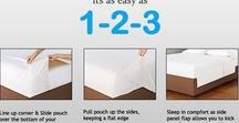Patented Bed Sheet / The Easy Sheet Sets feature a Top Sheet with continuous contoured ends at the bottom of the bed that gently hug the end of the mattress. This causes the Top Sheet to stay tucked in at the end of the bed. Your sheets will never roll around and become displaced anymore.