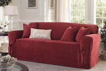 Loving Red! / Rich red makes an impact in any room. Add it easily with Sure Fit slipcovers!
