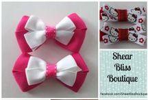 Shear Bliss Boutique / Handmade Hair Bows  www.facebook.com/ShearBlissBoutique